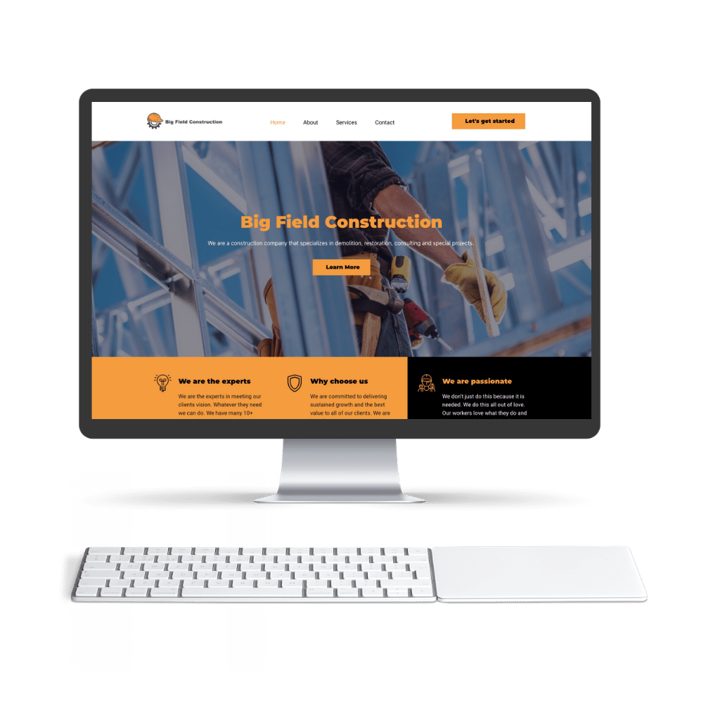 This is an image of Big constructions Curacao website 1024x1024 1
