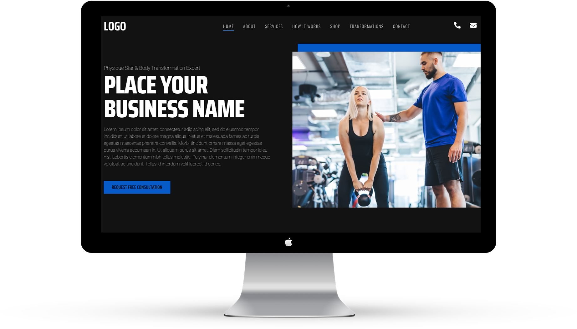This is an image of Femaile fitness website design 1