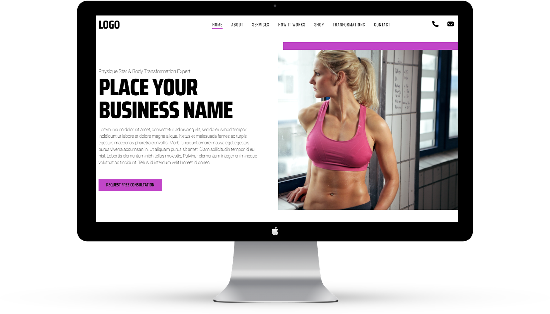 This is an image of Female website design