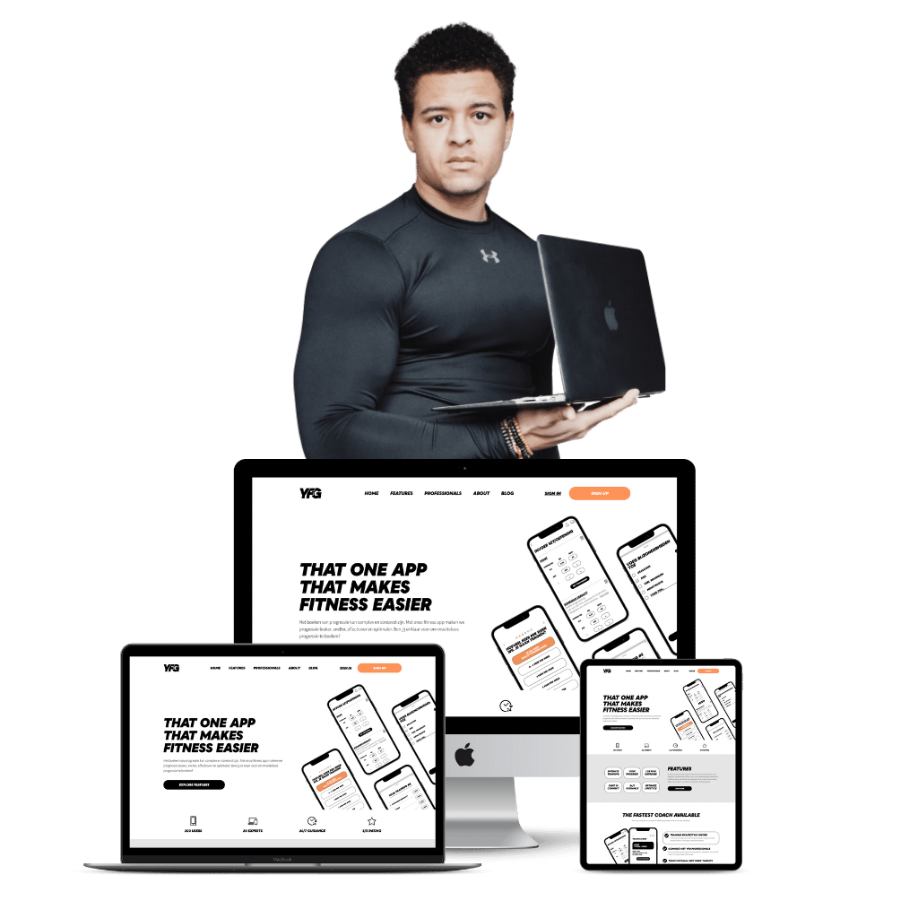 This is an image of Fitness website design image
