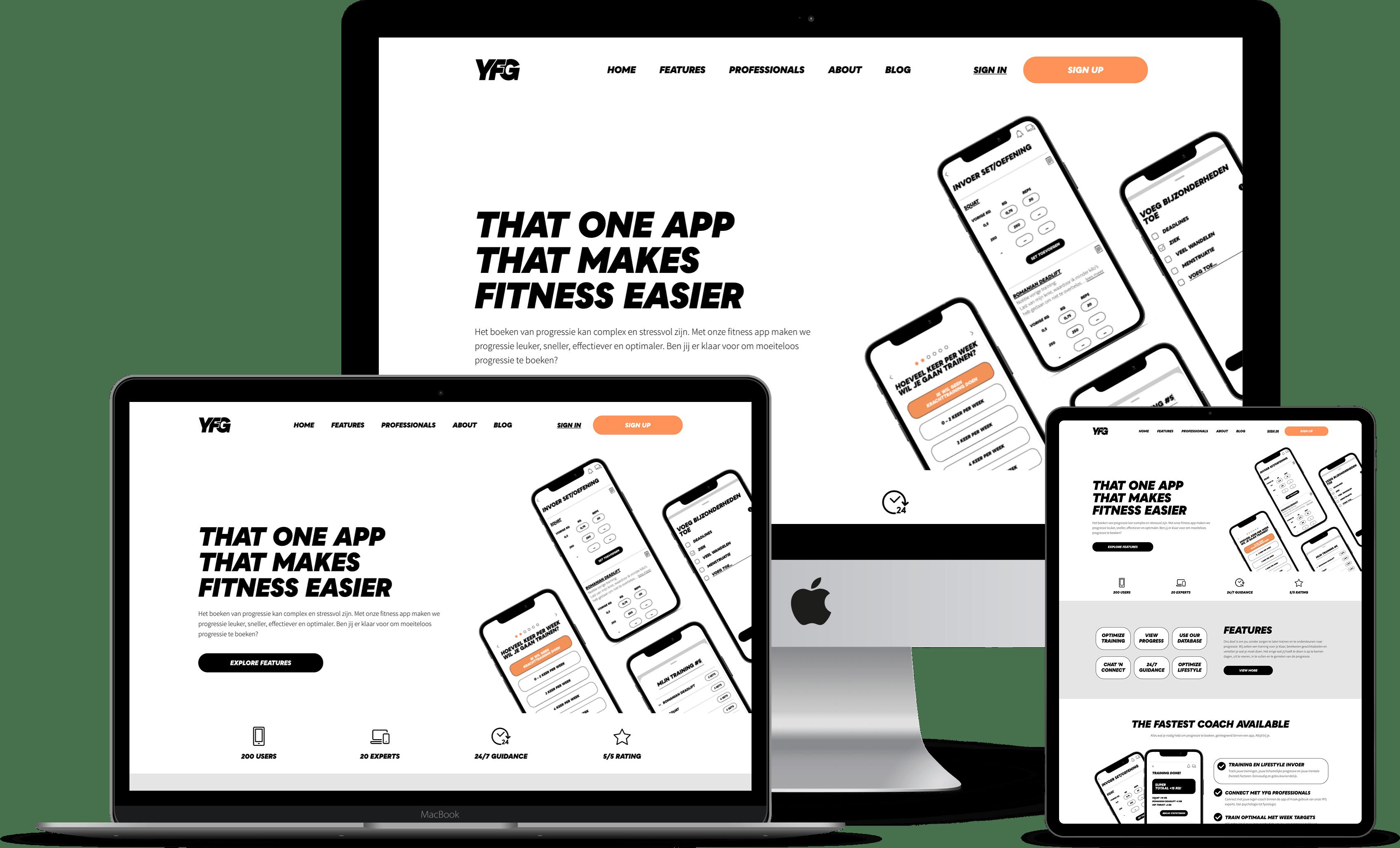 This is an image of Fitness website laten maken